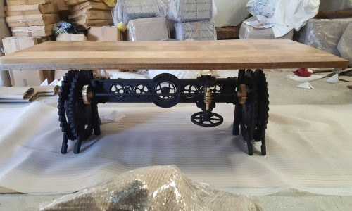 Industrial Crank Table Base